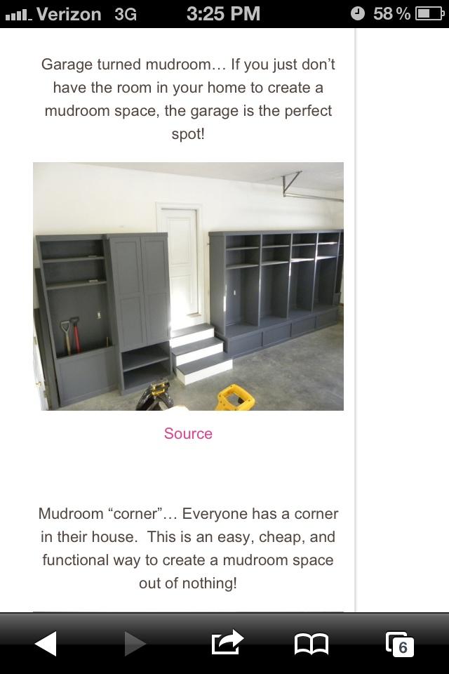 1000 ideas about garage lockers on pinterest garage for Garage mudroom plans