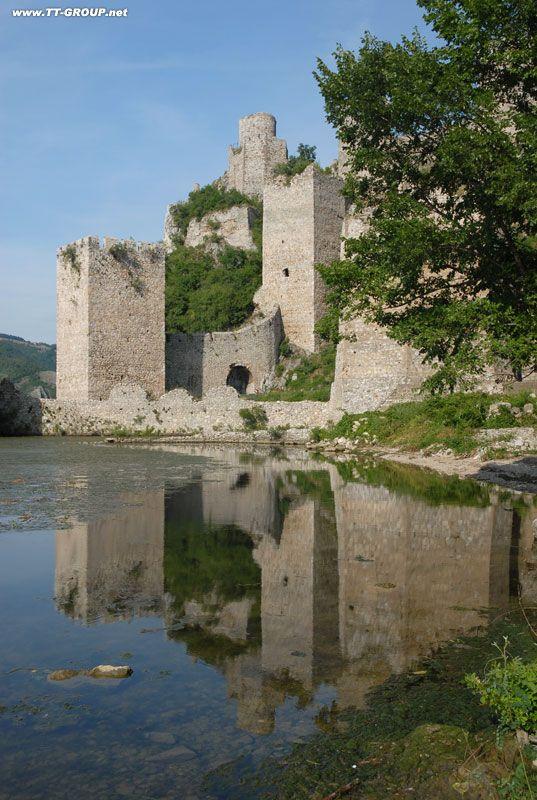 Golubac fortress on Danube river in Serbia