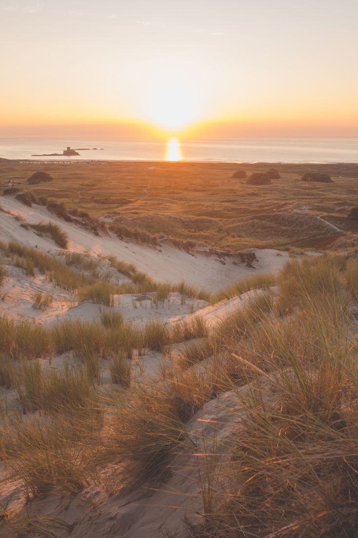 Beautiful sunset over the sand dunes in Jersey, Channel Islands #EscapeToJersey