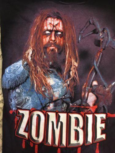 RARE Vintage ROCK Rob Zombie Sick Bubblegum 2010 Tour Men's XL T-shirt Black New