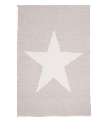 Stars-puuvillamatto, harmaa, 140 x 200 cm