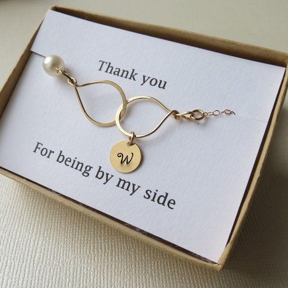 Personalized Infinity Bracelet & Card  Thank You by lizix26, $39.00