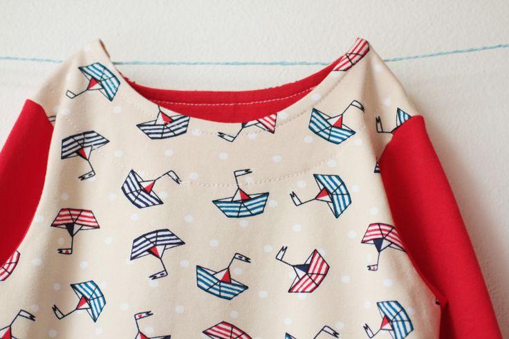 Handmade sewed sailor pyjamas for my little girl