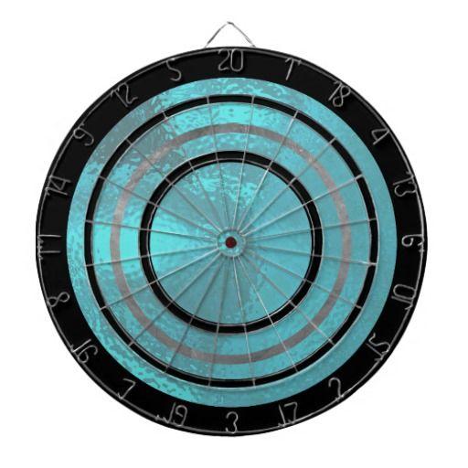 Pretty Blue Glass Design Dartboard #zazzle