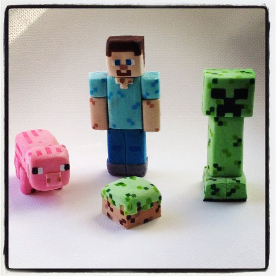Cake Toppers Minecraft Uk : Edible Minecraft Cake Toppers USD40 Cake Freak Pinterest ...