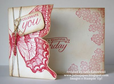 Swallowtail stamp set and Birthday Blossoms stamp set #stampinup