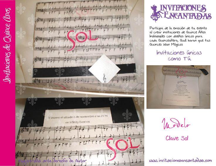 invitacion con sobre de papel calca y dise u00f1o de notas