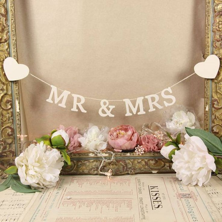 'Mr And Mrs' Decorative Garland