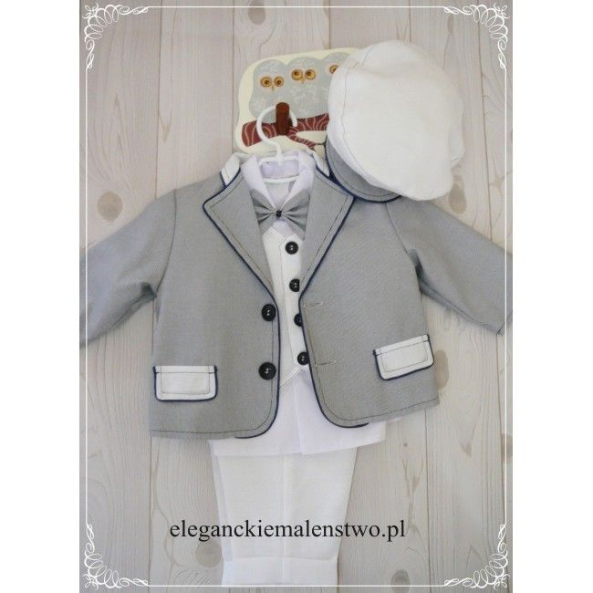 Lniany komplecik dla chłopca z powodzeniem może zastąpić standardowe #ubranko na #chrzest.