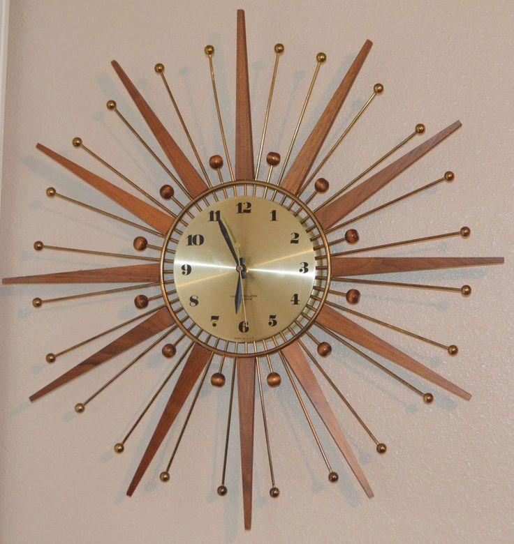 Vintage WESTCLOX Nocord Atomic Wall Clock STARBURST Retro Drama *Works*