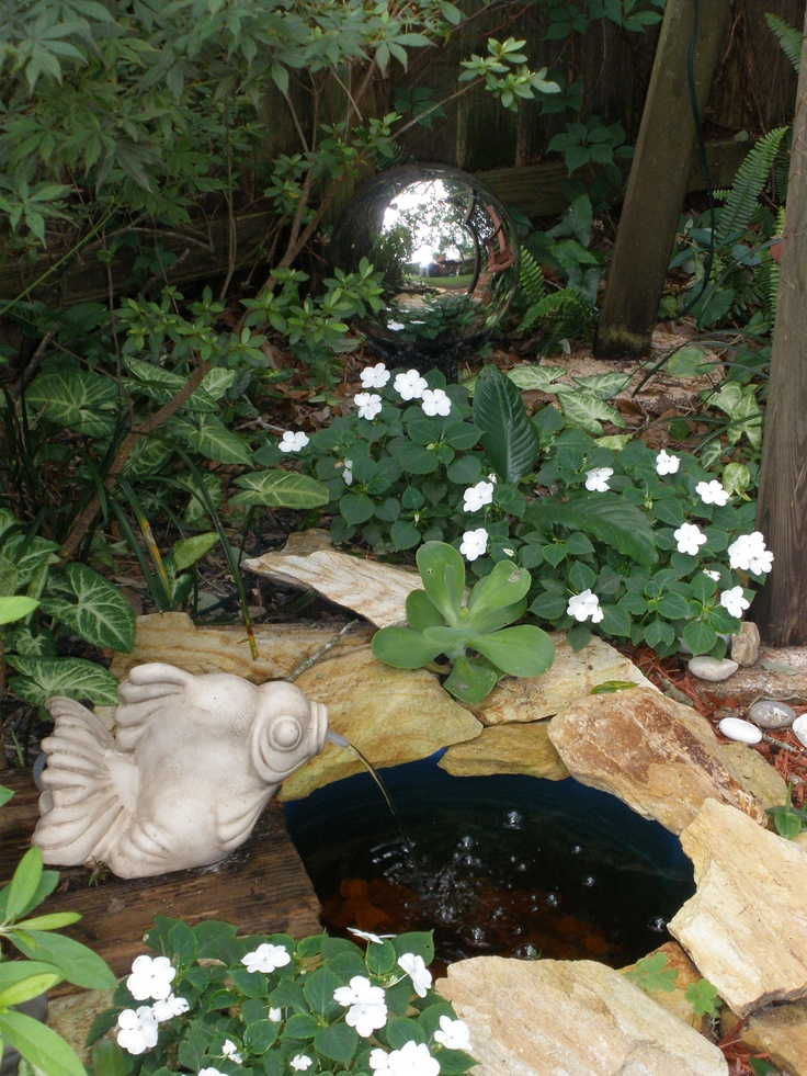 17 best images about fish pond on pinterest backyard for Plastic garden fish ponds
