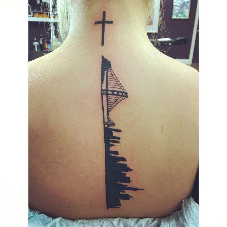 Des Moines Skyline Tattoo