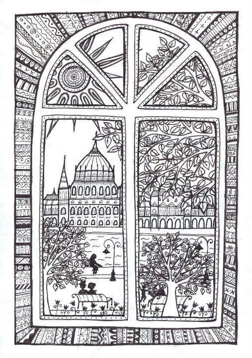 """""""Azt mondd meg nékem, hol lesz majd lakóhelyünk Maradunk itt, vagy egyszer majd továbbmegyünk? Itt van a város, vagyunk lakói Maradunk itt, neve is van: Budapest...""""        (Bereményi Géza - Cseh Tamás)  Budapest city art, Donau, window, atmosphere, Parlament of Hungary"""