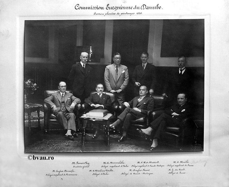 """Comisia Europeană a Dunării, 1935, Galati, Romania. Imagine din colecţiile Bibliotecii Judeţene """"V.A. Urechia"""" Galaţi."""