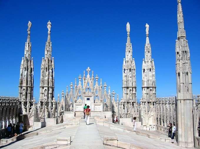 Auf dem Dach des Doms Mailand