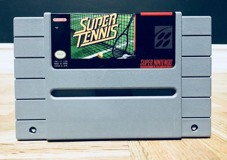Vintage 1991 Super Tennis Nintendo SNES, Nintendo Games, Vintage Toys, Antique Alchemy