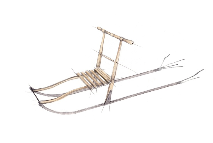 """Norwegian kicksled (""""spark"""") - used as transportation / for getting around in the snow"""