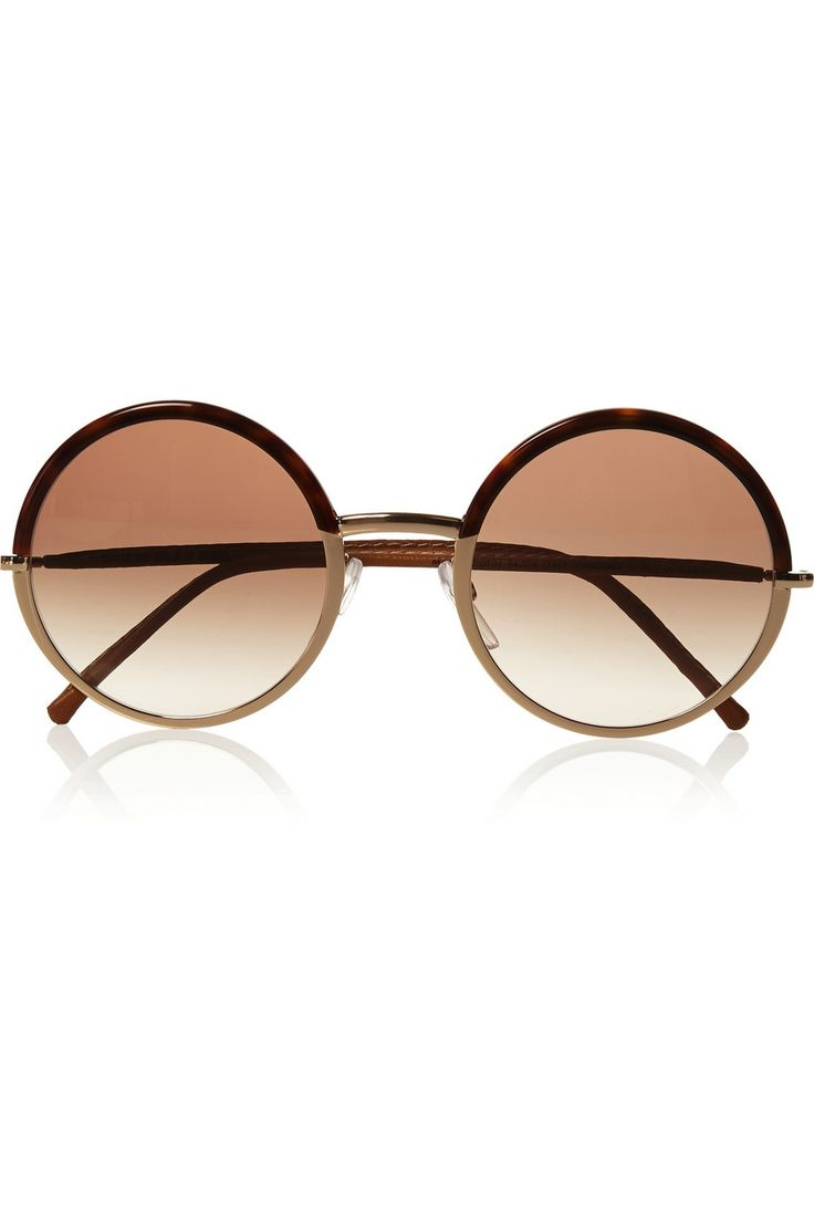 Cutler and Gross | Round-frame metal and acetate sunglasses | NET-A-PORTER.COM