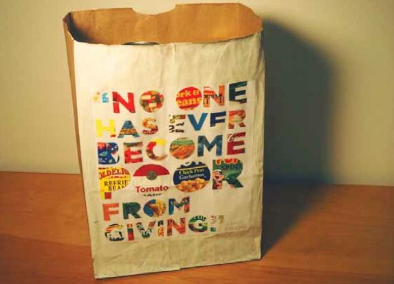 No one has ever became poor from giving