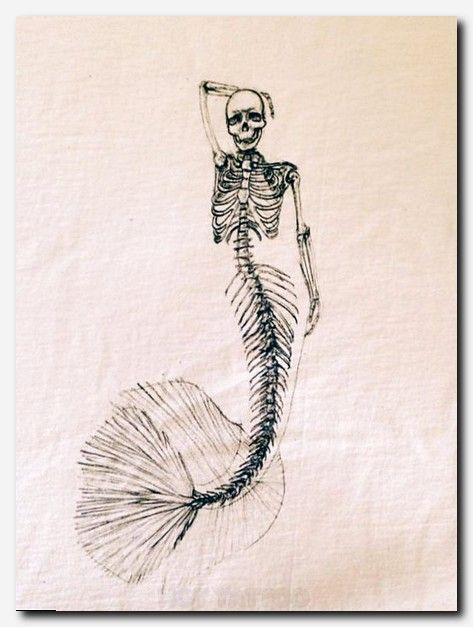 Mermaid Skeleton Sketch T