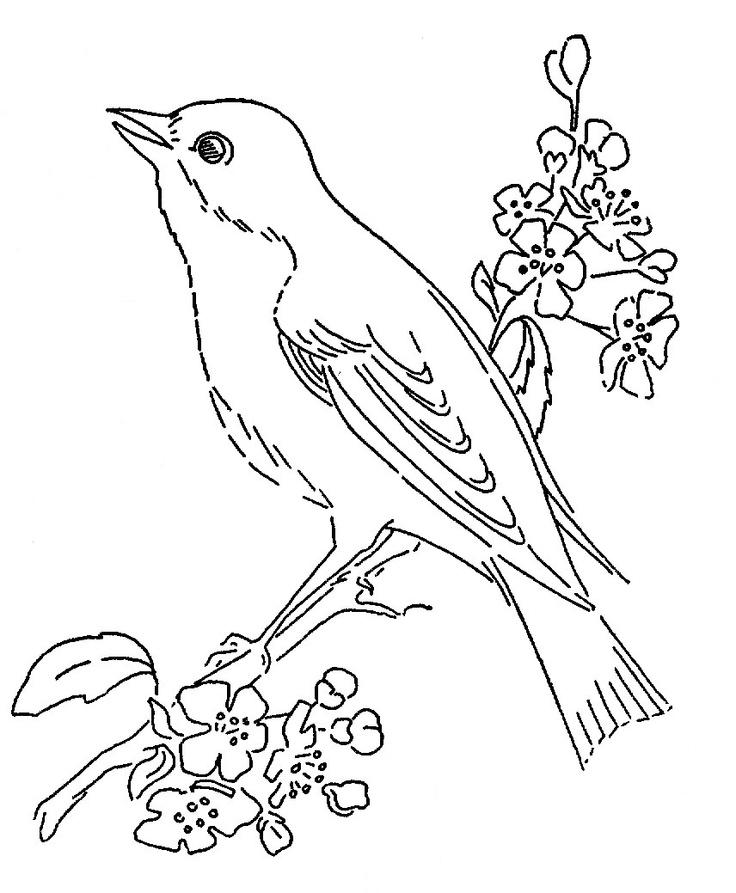 nachtegaal kleurplaten knutselen sprookjes vogels