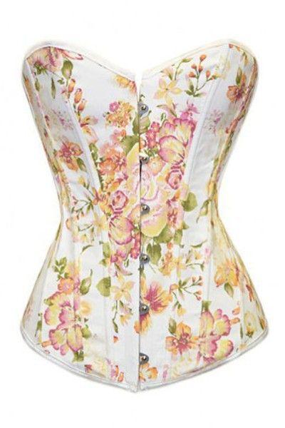 Plus Size Delightful Tulip Flock Boned Denim Corset Cheap Gothic Dresses Gothic Patterns Wedding Lingerie Plus Size Corset