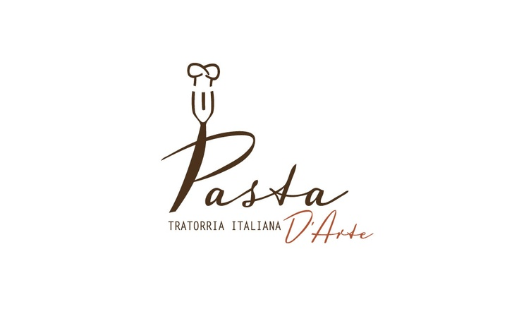 Italian Food Restaurant Names: Logo For Pasta D'Arte - Italian Restaurant