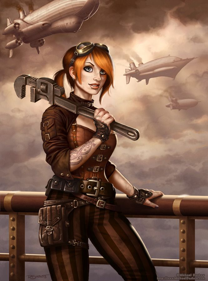 steampunk characters female - Google Search
