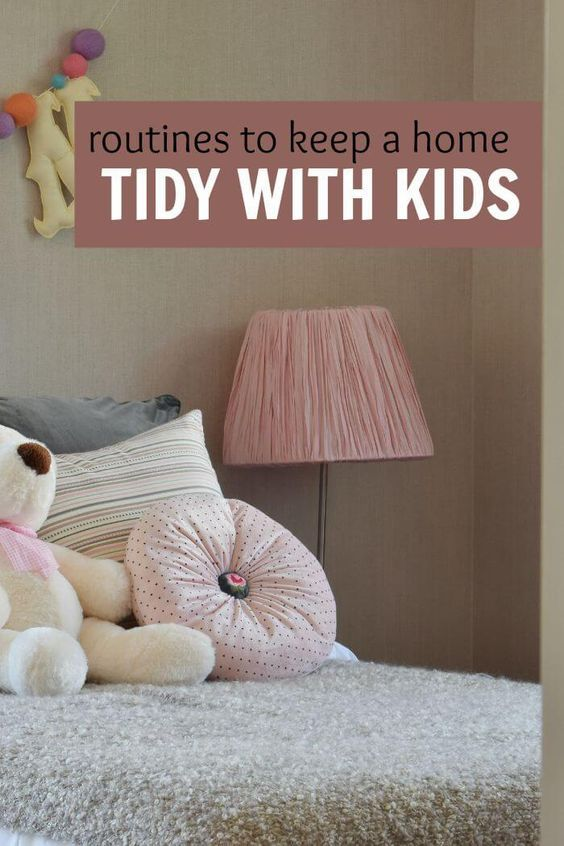 Some easy and fun routines to help keep your home tidy even if you have small children. Moms who need to get their households in order will want to read this. Very helpful read for homes with babies, toddlers, and preschoolers who are so good at making messes.