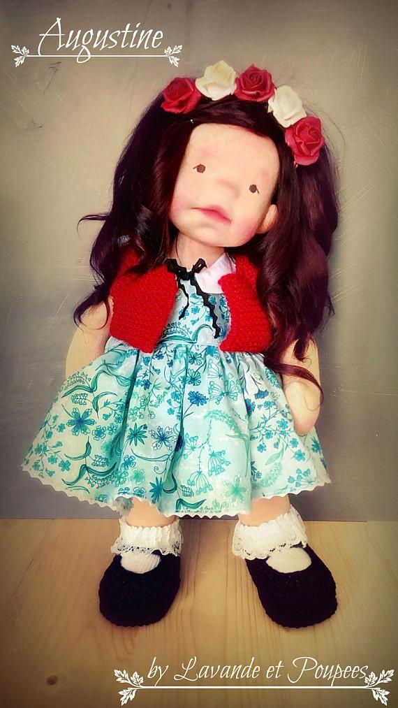 Waldorf Doll Augustine 16Doll OOAK Doll handmade doll
