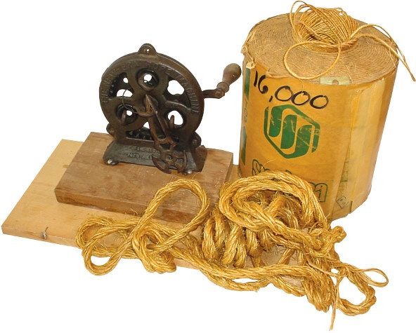 """Cast iron rope maker, """"The New Era Rope Machine""""  LiveAuctioneers"""
