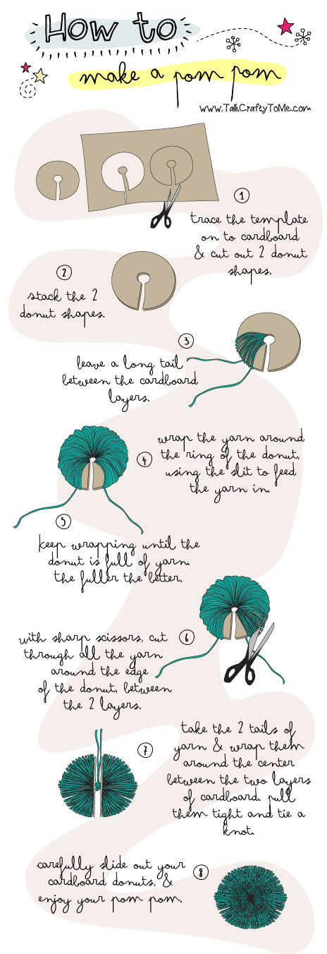 how to make pom poms.