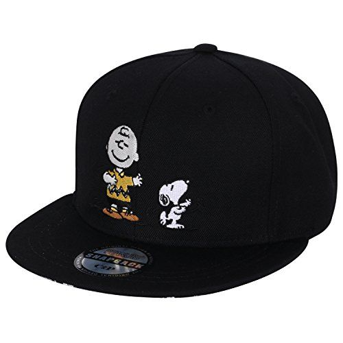 Peanuts Embroidery Snoopy Charlie Brown New Era Style Snapback Hat Baseball Cap @ niftywarehouse.com