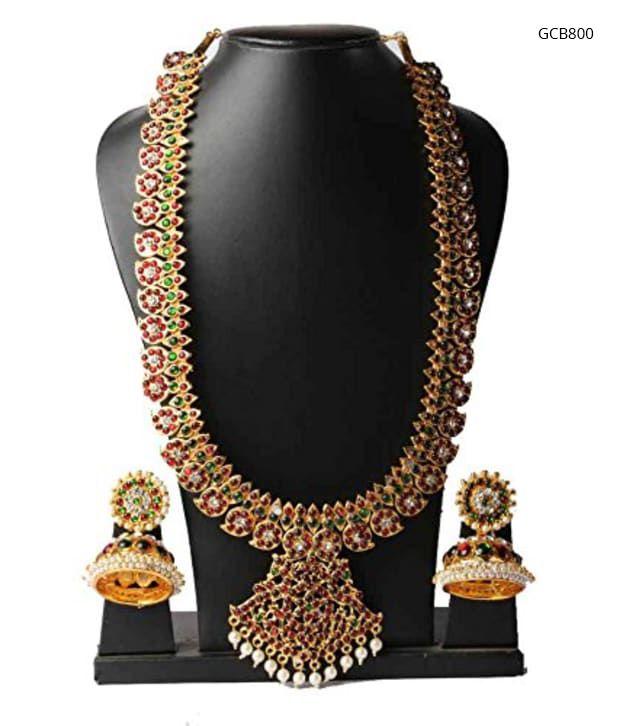 Temple Jewellery mango Necklace Bharatanatyam Set To order Whatsapp 9849713635