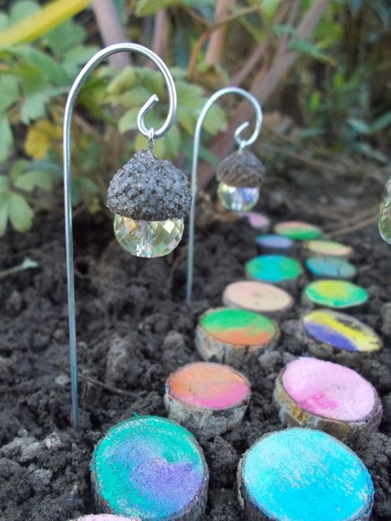 acorn lantern fairy light 1 fairy garden terrarium potted plant fairy miniatures