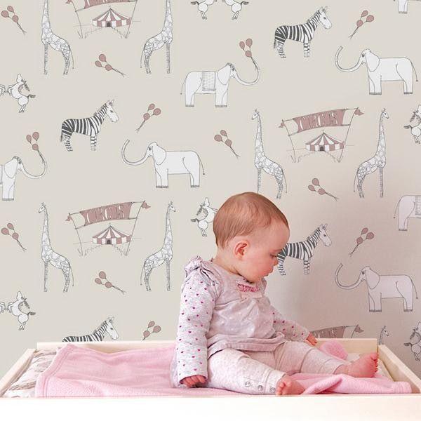 Animal Wallpaper Theme For Nursery Room Baby Bedroom