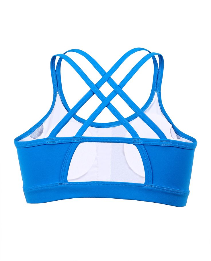 Charmo Womens Active Strappy Back Sports Bra Push Up
