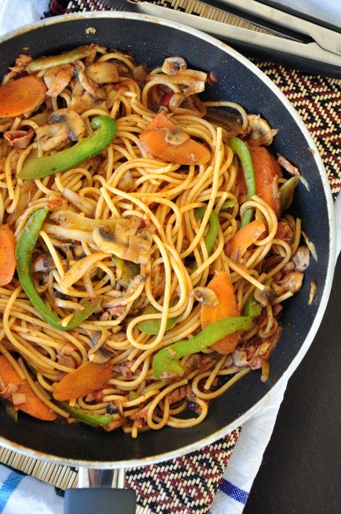 Mom's Stir-fried Spaghetti