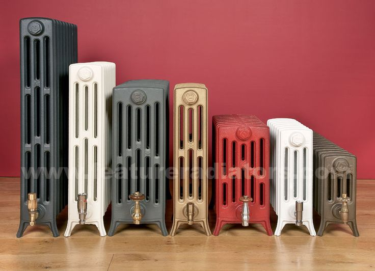 The Etonian cast iron radiator from Feature Radiators is perfect to replace the standard panel radiators in the formal living room.