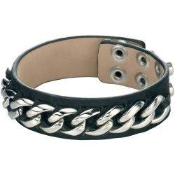 Fred Bennett Black Leather Cuff Bracelet #Costume #Jewellery
