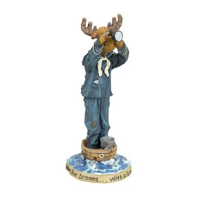 Boyds Moose Troop Collection Sir Francis Blackhoof with First Mate McMousen...Land Ho! (Resin)