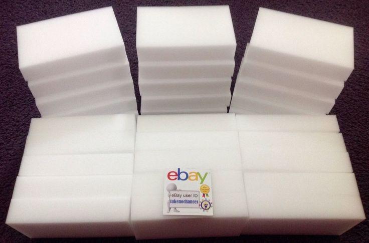 "cool 30 BULK PACK Magic Sponge Eraser Melamine Foam Cleaning 3/4"" Thick USA Seller   Check more at http://harmonisproduction.com/30-bulk-pack-magic-sponge-eraser-melamine-foam-cleaning-34-thick-usa-seller/"