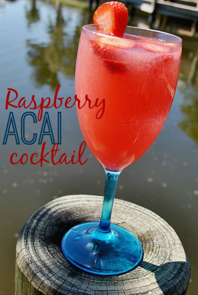 Craft an easy #GirlsNightIn #cocktail with Trop50 Raspberry Acai! This fruity drink is perfect for patio parties and is sweet enough to be refreshing on a warm night.