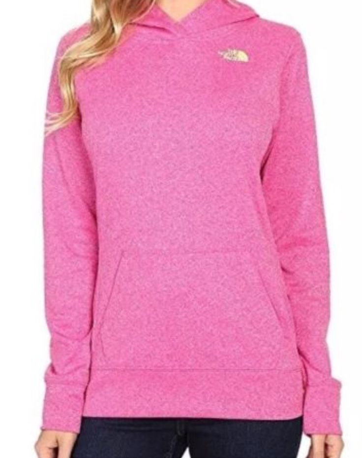 Women's North Face Pullover hoodie #northface #winterclothes #hoodie #pink #neon #winter #womensclothing