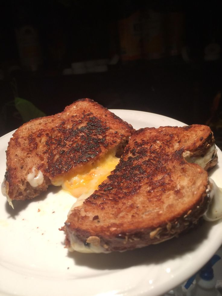 Coastal rugged mature English cheddar & Henning's WI sharp cheddar on Dave's Killer bread #grilledcheese #food #yum #foodporn #cheese #sandwich #recipe #lunch #foodie