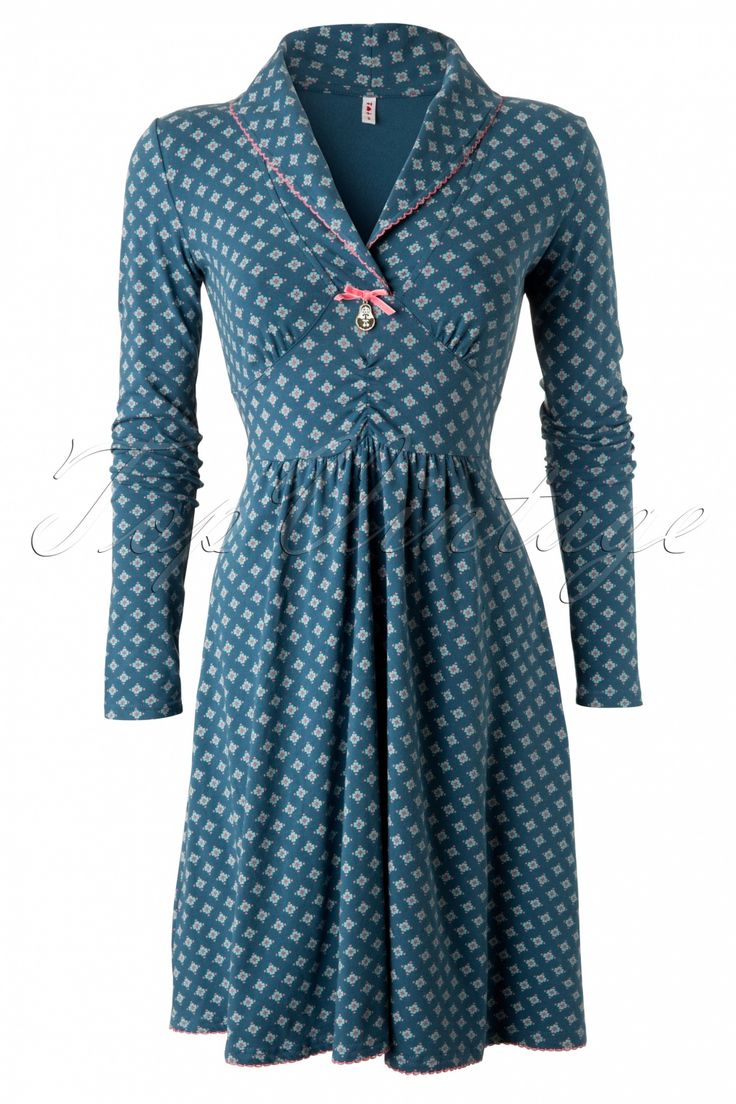 Blutsgeschwister - 60s Inupiat Petrol Polar Star Dress