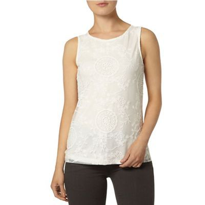 Dorothy Perkins Ivory orgazna shell top- | Debenhams