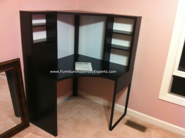 Superior Ikea Micke Workstation Desk Assembled In Baltimore MD For A Customer Kid`s  Room By