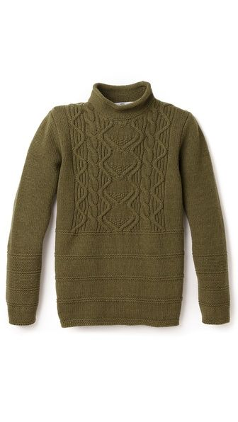 Inis Meain Gansey Cable Tunic Sweater