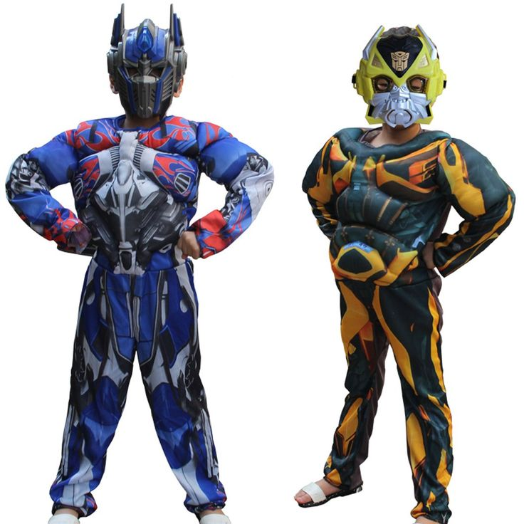 Kid Muscle Costumes - Bumblebee and Optimus Prime. Taxes and delivery included. Learn more at myscreenaddiction.com
